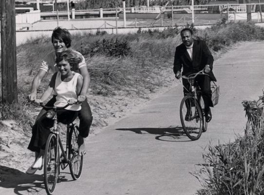 MLK on a bike